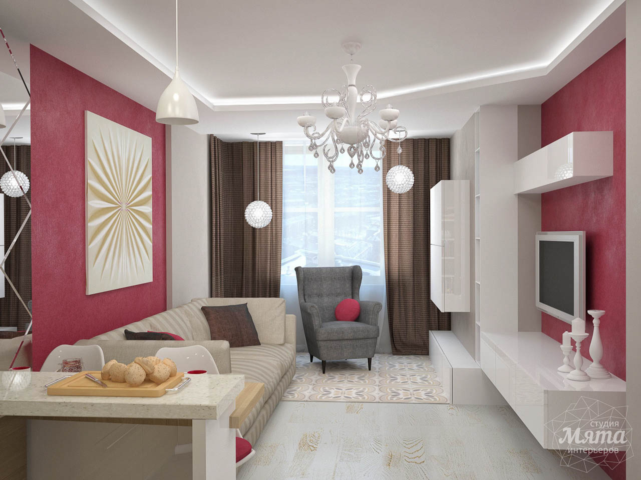 Дизайн интерьера и ремонт трехкомнатной квартиры по ул. Фучика 9 img1868379927