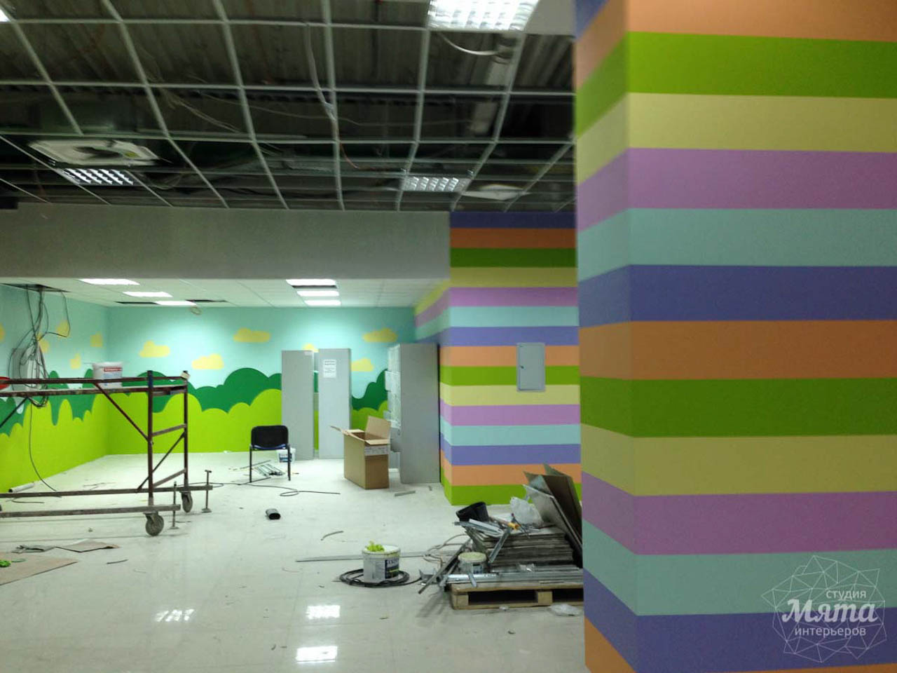 Дизайн интерьера и ремонт детского гипермаркета по ул. Щербакова 4 26