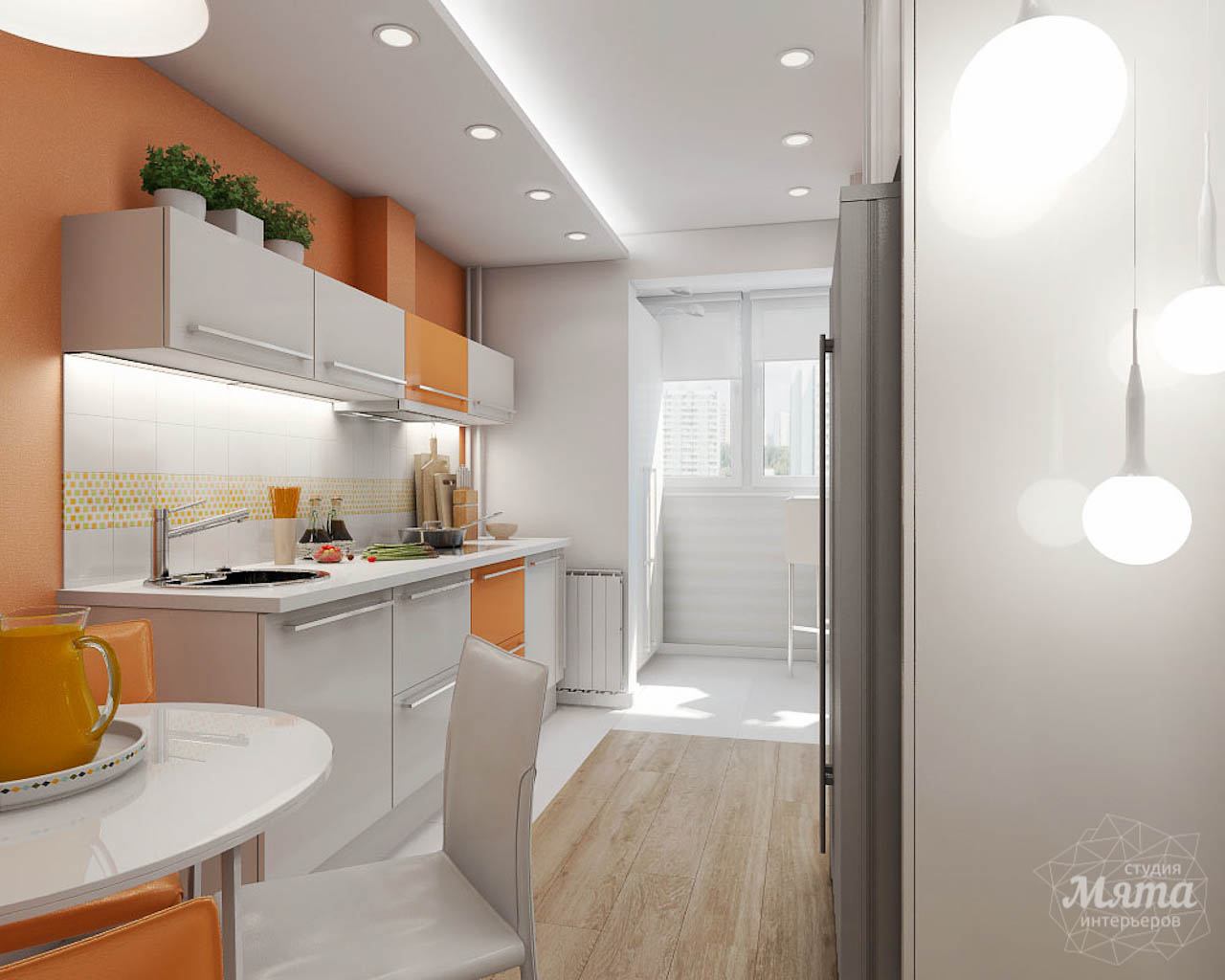 Дизайн интерьера однокомнатной квартиры в современном стиле по ул. Агрономическая 47 img568051024