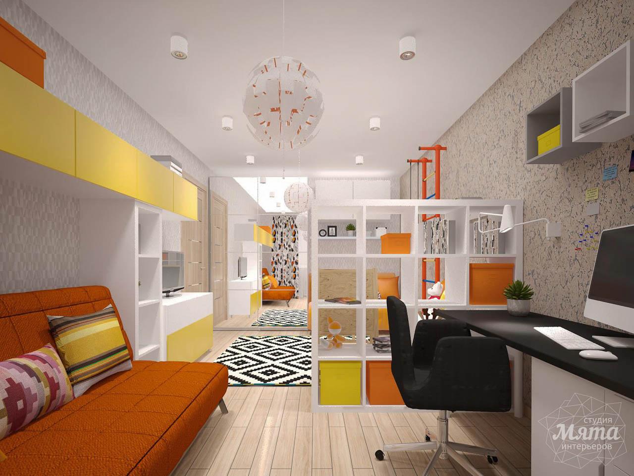 Дизайн интерьера однокомнатной квартиры в современном стиле по ул. Агрономическая 47 img39286197