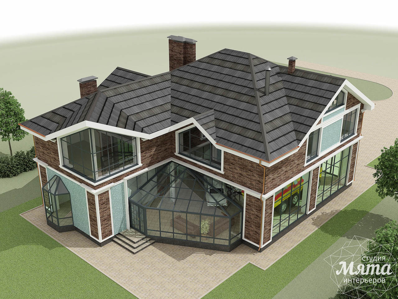 Дизайн фасада коттеджа в п. Палникс img99537300