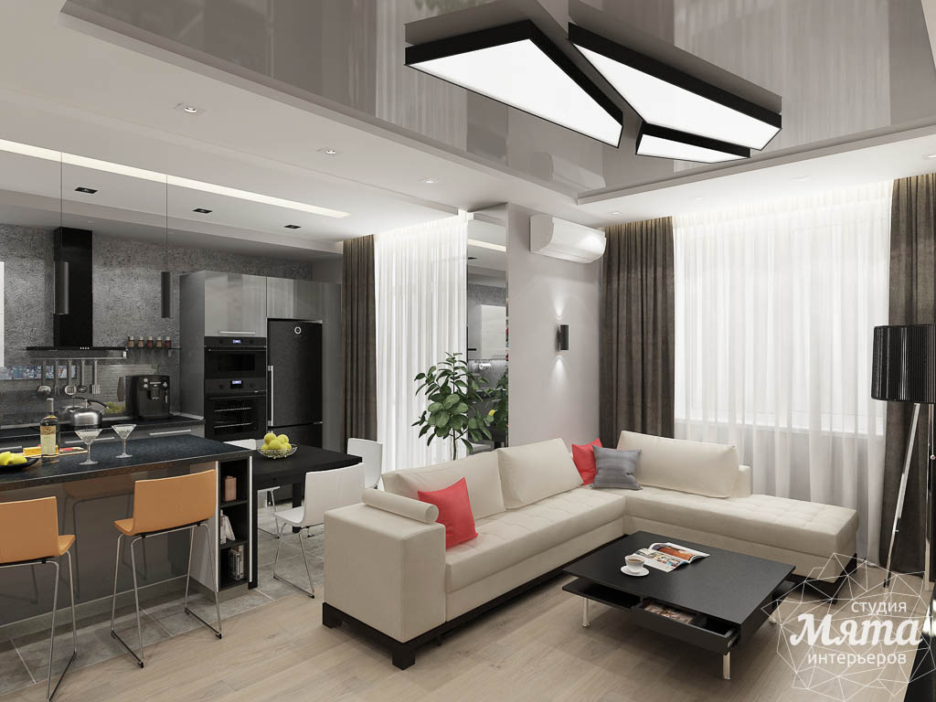 Дизайн интерьера двухкомнатной квартиры в ЖК Крылов img1130721107