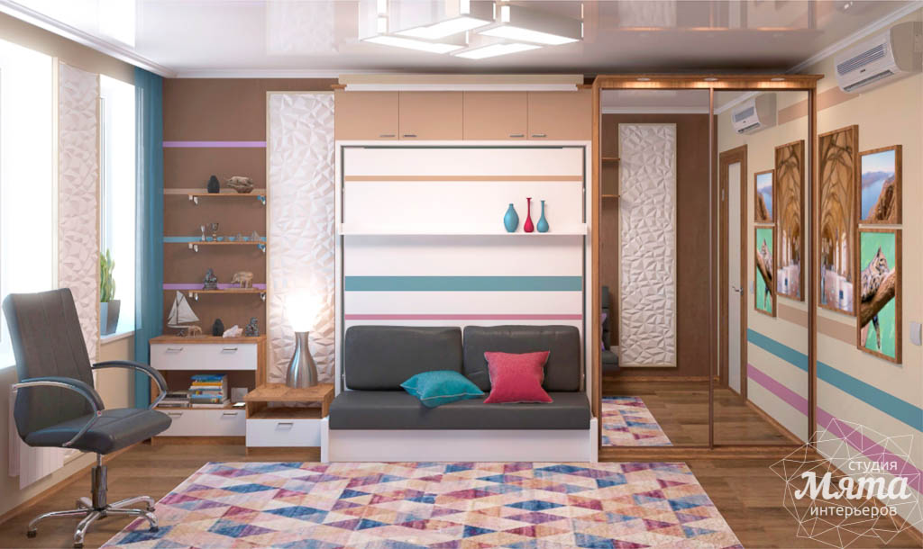 Дизайн интерьера однокомнатной квартиры по ул. Соболева 19 img2104115616