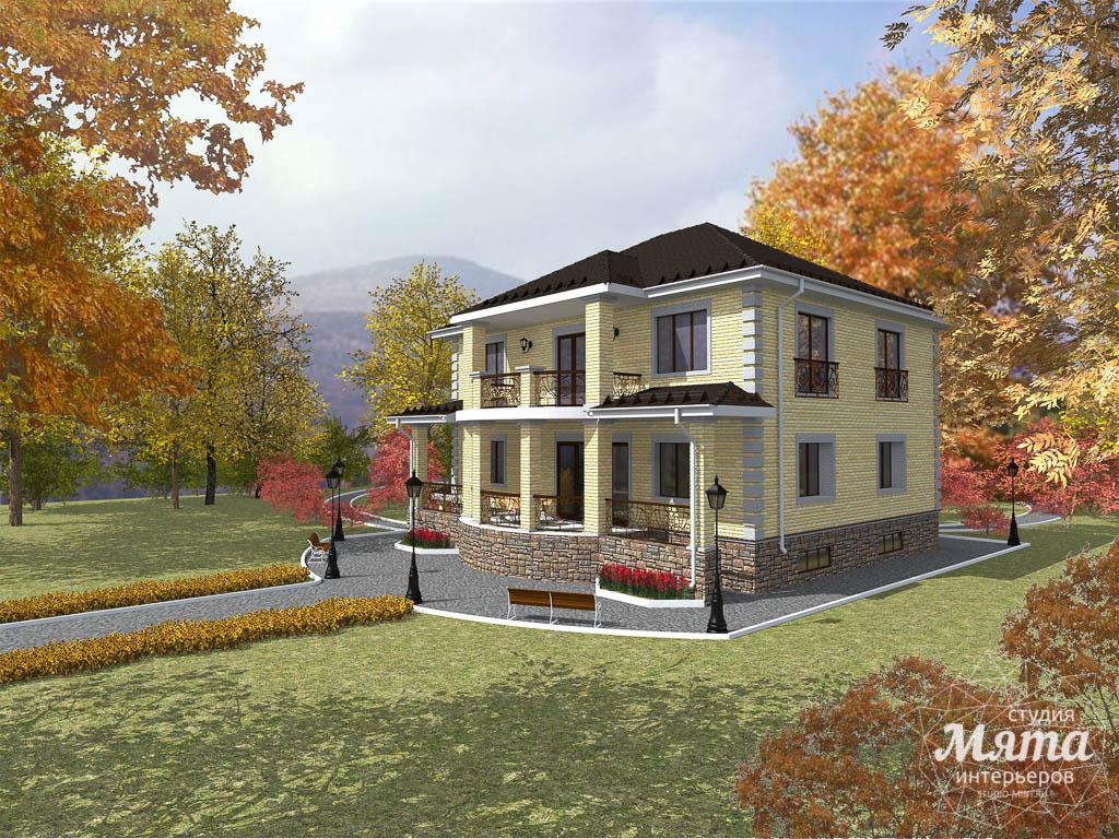 Дизайн фасада коттеджа 314м2 в Сысерти 3