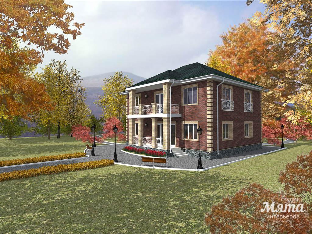 Дизайн проект фасада двухэтажного дома 210 м2 в Сочи 1