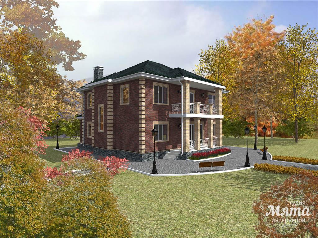 Дизайн проект фасада двухэтажного дома 210 м2 в Сочи 2
