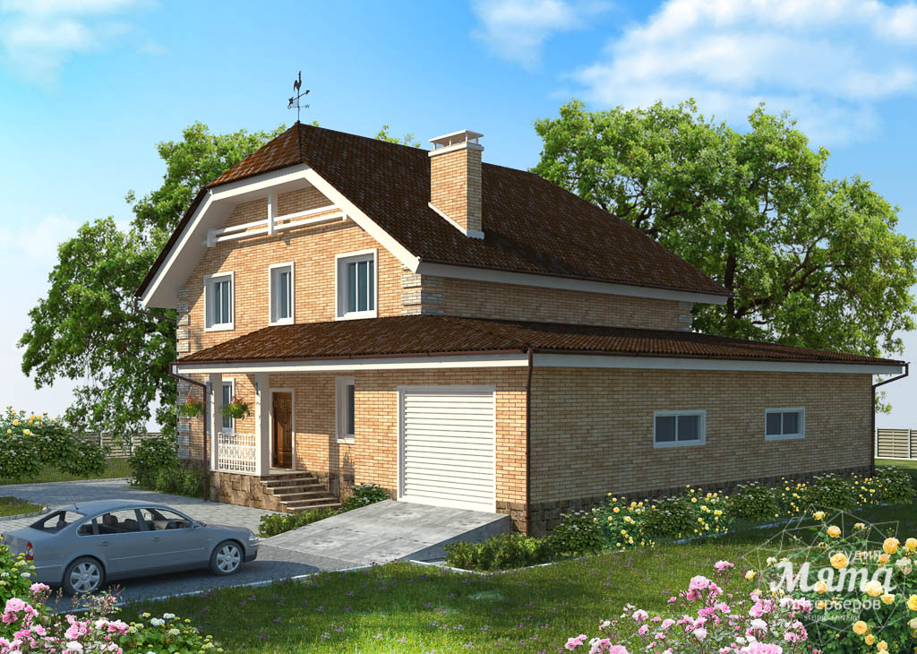 Дизайн-проект фасада коттеджа 400 м2 в КП Расторгуев 3