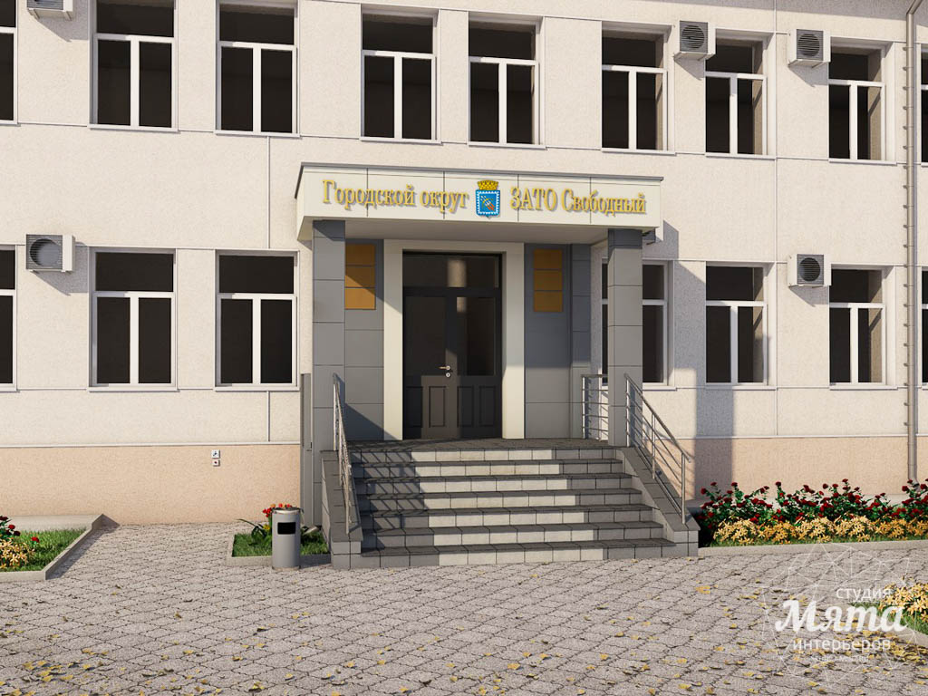 Дизайн-проект входной группы Муниципального учреждения п. Свободный img1378510226