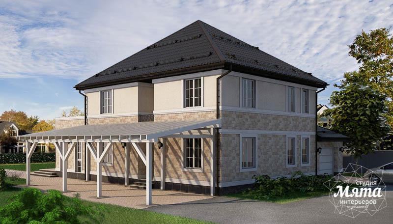 Дизайн фасада коттеджа 200 м2 в г. Тюмень img1200821390
