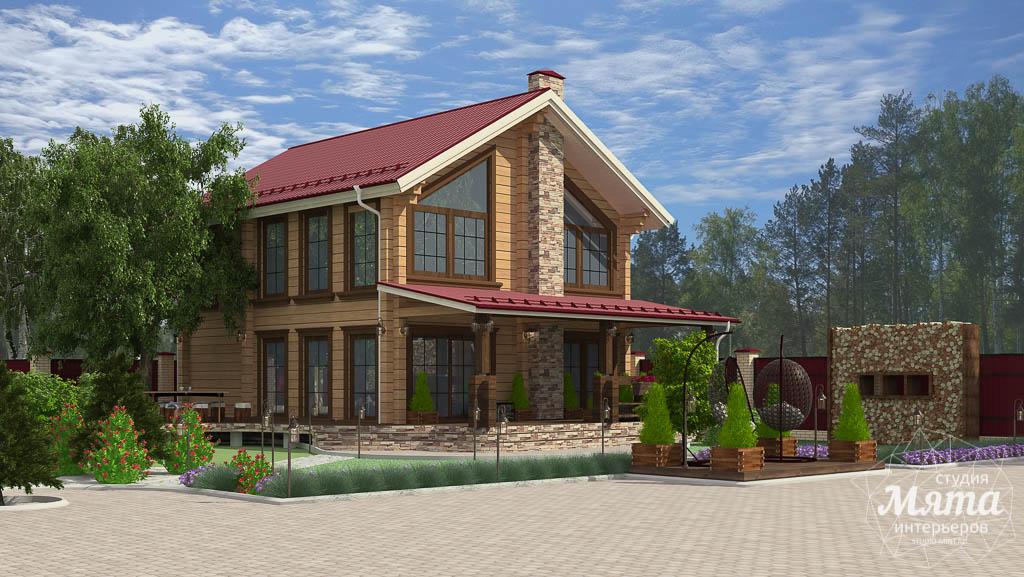 Дизайн фасада дома 532 м2 и бани 152 м2 г. Арамиль img358767739