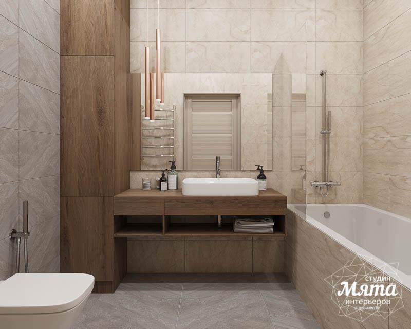 Дизайн интерьера ванных комнат двухуровневой квартиры в ЖК Современник img1630472992
