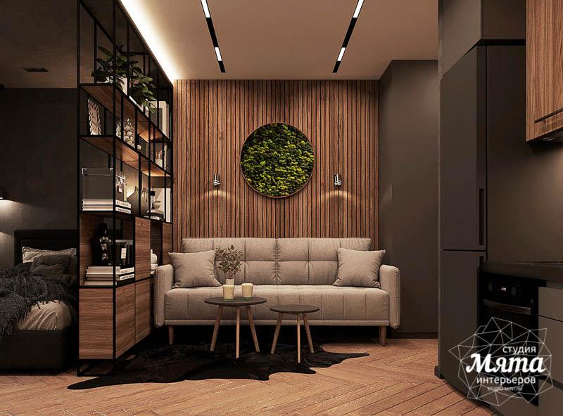 Дизайн интерьера квартиры - студии в ЖК Гринвуд img536476960