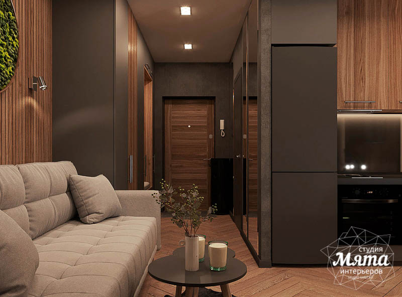 Дизайн интерьера квартиры - студии в ЖК Гринвуд img2043285141