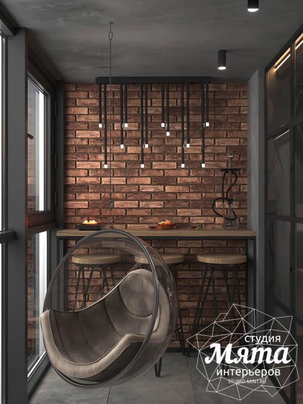 Дизайн интерьера квартиры в стиле лофт img649229176