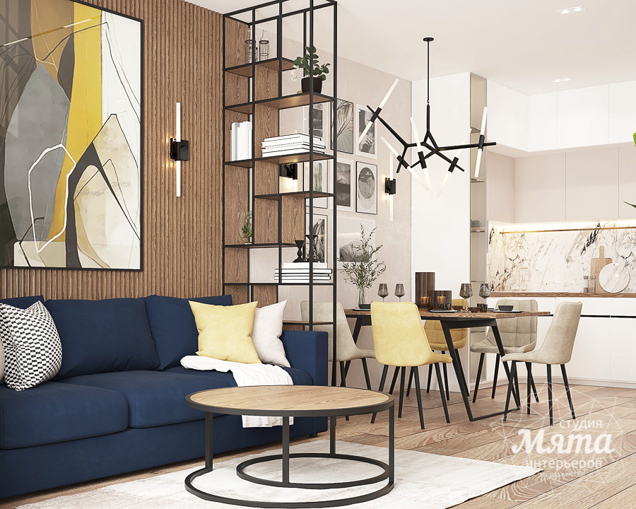 Дизайн интерьера трехкомнатной квартиры в ЖК Клевер Парк img1010059356