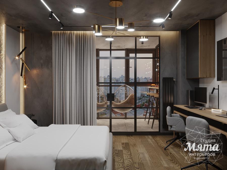 Дизайн интерьера квартиры в стиле лофт ЖК Солнечный Остров img359200927