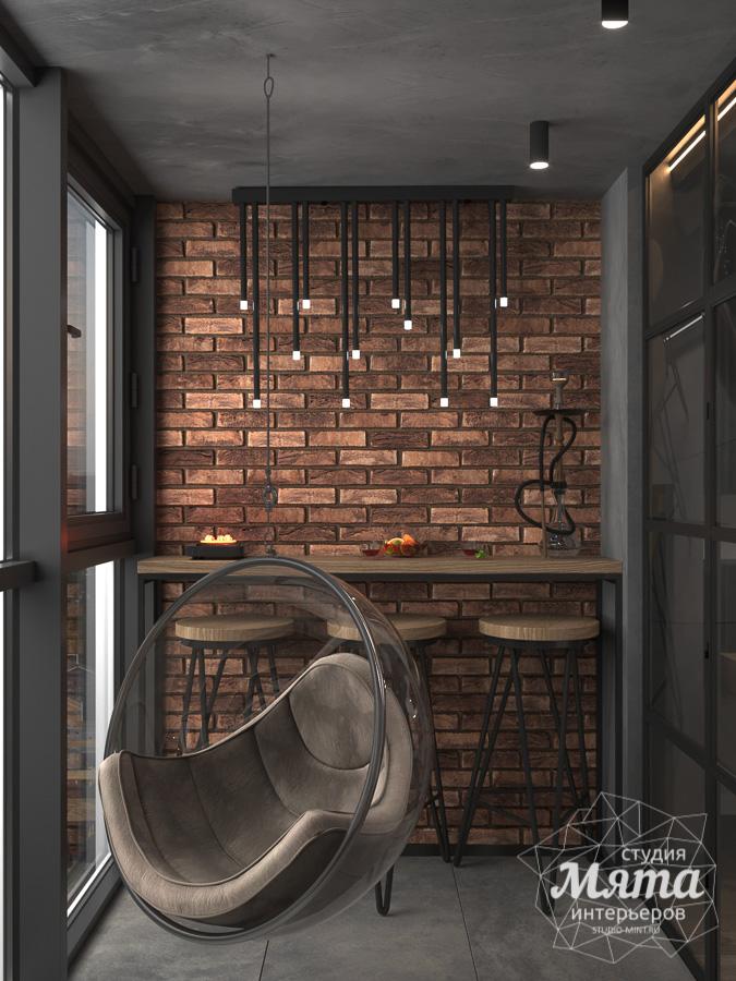 Дизайн интерьера квартиры в стиле лофт ЖК Солнечный Остров img1019555412