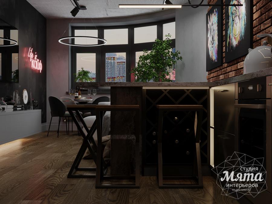 Дизайн интерьера квартиры в стиле лофт ЖК Солнечный Остров img1547096187