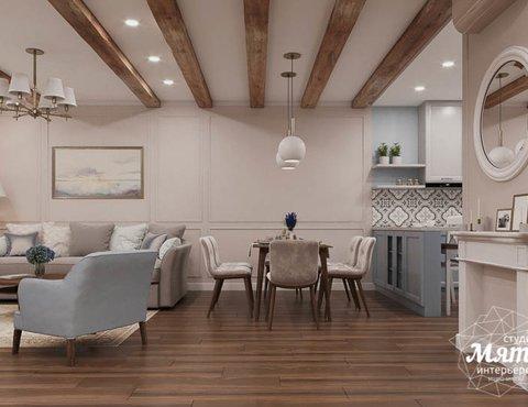 Дизайн интерьера первого этажа таунхауса в п. Палникс