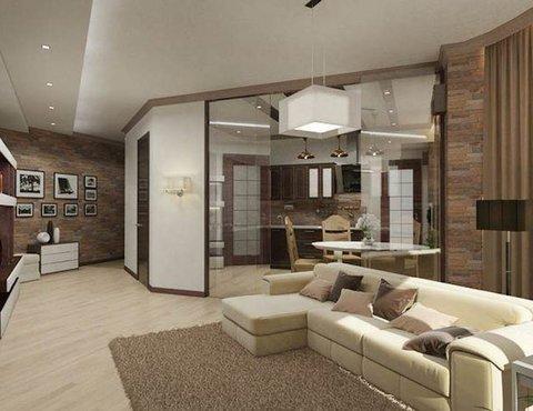 Дизайн интерьера трехкомнатной квартиры по ул. Куйбышева 21-2