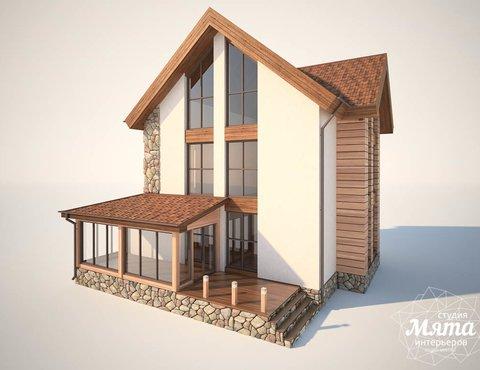 Дизайн фасада коттеджа в Хрустальном