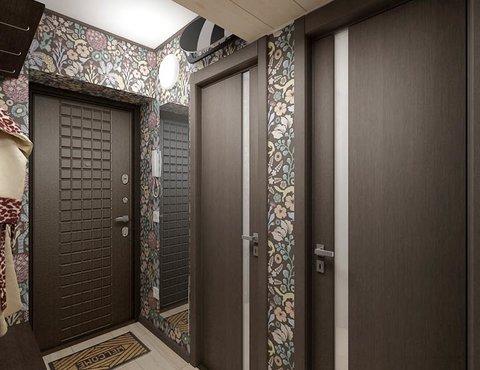 Дизайн интерьера и ремонт ванной комнаты и прихожей по ул. Крауля 70