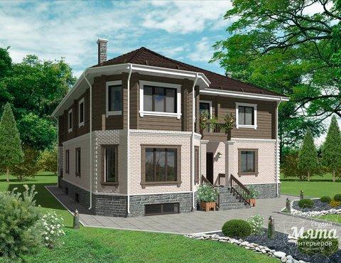 Дизайн-проект фасада коттеджа 495 м2 в КП Карасьозерский