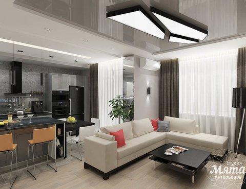 Дизайн интерьера двухкомнатной квартиры в ЖК Крылов
