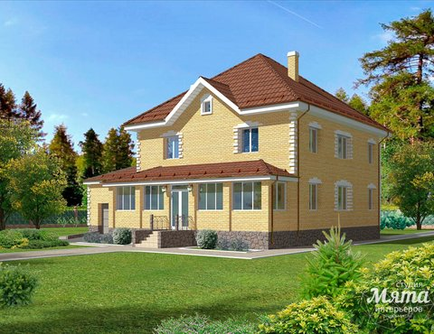 Дизайн фасада дома 270 м2 в КП Заповедник