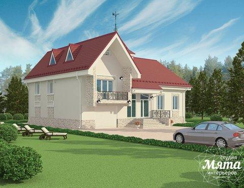 Дизайн фасада коттеджа 195 м2 в г. Екатеринбург