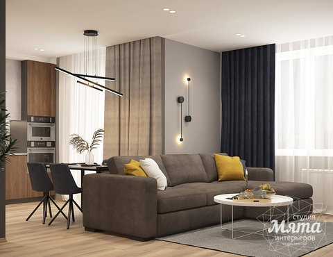 Дизайн интерьера трехкомнатной квартиры ЖК Близкий