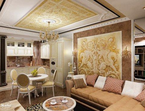 Дизайн интерьера двухкомнатной квартиры по ул. Мельникова 38