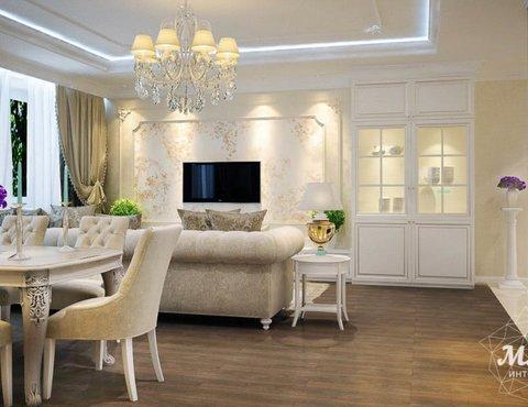 Дизайн интерьера четырехкомнатной квартиры по ул. Куйбышева 98