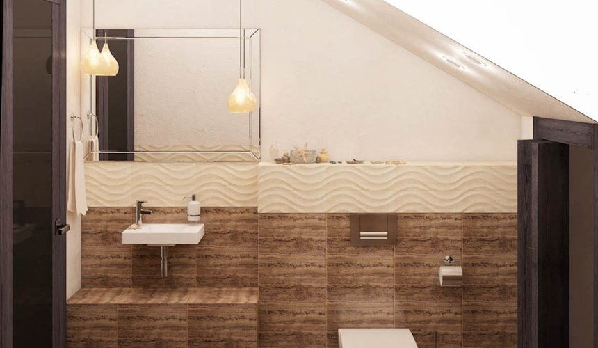 Дизайн интерьера коттеджа в п. Новый Исток 43