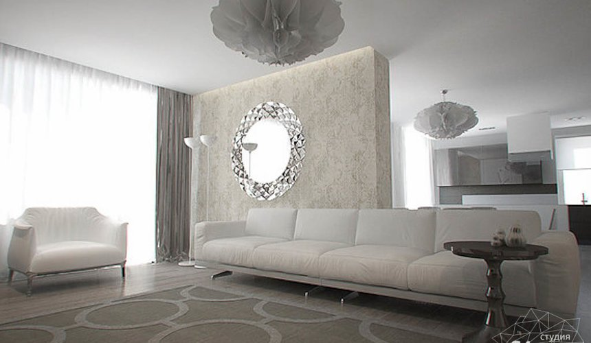Дизайн интерьера трехкомнатной квартиры в Тихвине 2 5