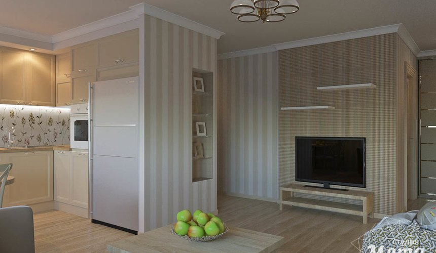 Дизайн интерьера однокомнатной квартиры по ул. Бажова 161 6