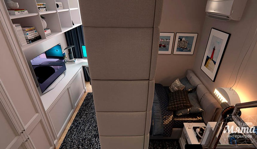 Дизайн интерьера четырехкомнатной квартиры в Новосибирске 36