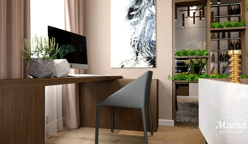 Дизайн интерьера двухкомнатной квартиры в Сочи 10