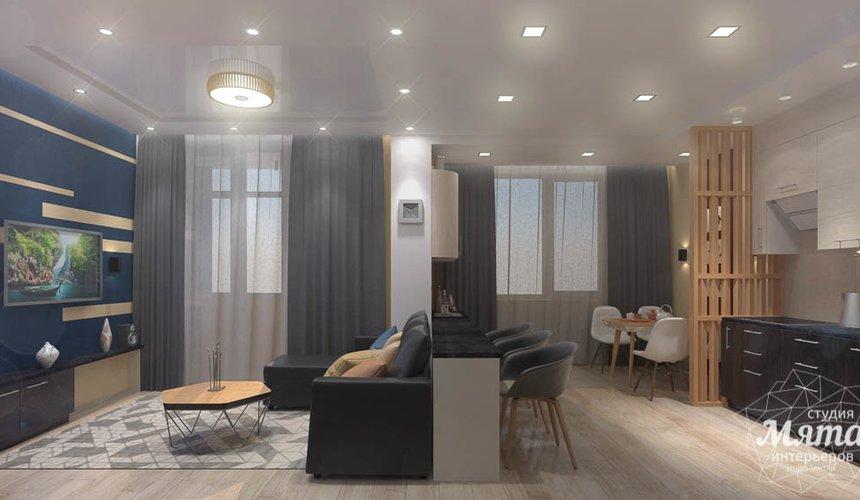 Дизайн интерьера однокомнатной квартиры в ЖК Крылов 6