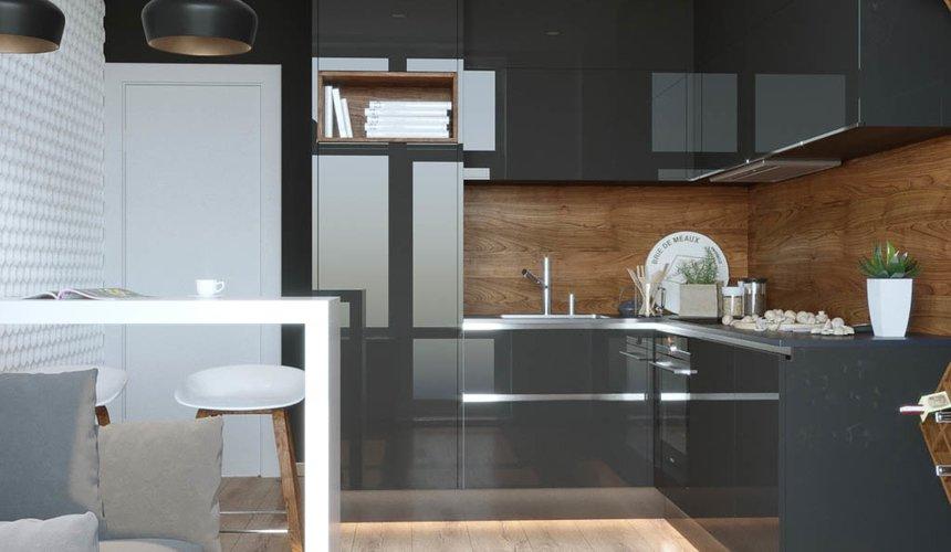 Дизайн интерьера однокомнатной квартиры в ЖК Чемпион Парк 5
