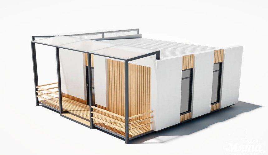 Дизайн фасада модульного дома в п. Новое Созвездие 7