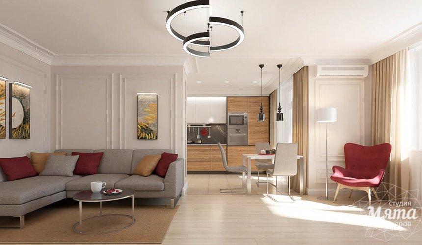 Дизайн интерьера трехкомнатной квартиры в ЖК Малевич 3