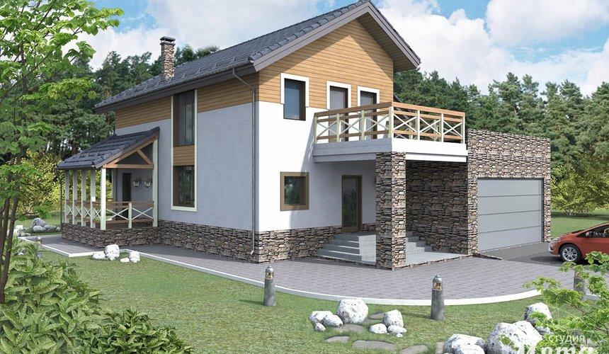 Дизайн фасада коттеджа 205м2 в г. Нижневартовск 1