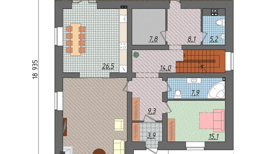 Дизайн-проект фасада коттеджа 495 м2 в КП Карасьозерский 5