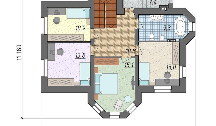 Дизайн фасада дома 160м2 в КП Александрия 5