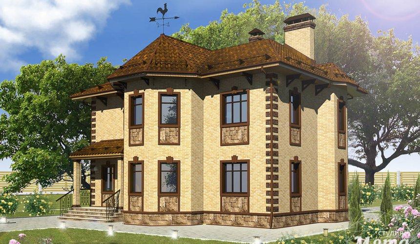 Дизайн фасада дома 160м2 в КП Александрия 3