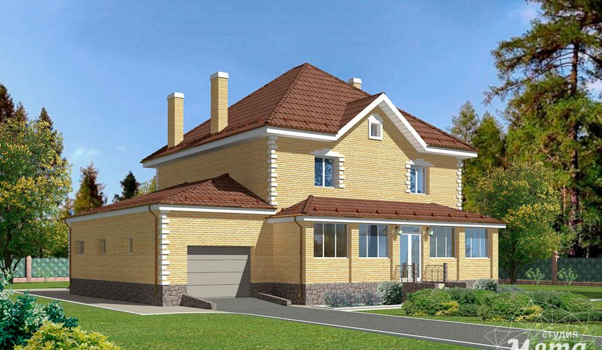 Дизайн фасада дома 270 м2 в КП Заповедник 2