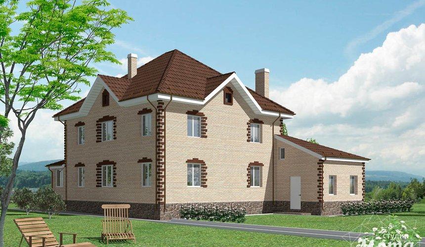 Дизайн проект фасада коттеджа 290 м2 в г. Сургут 3