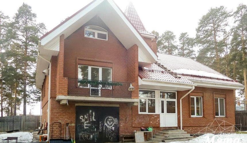 Дизайн фасада коттеджа 195 м2 в Москве 3