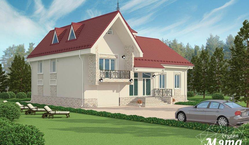 Дизайн фасада коттеджа 195 м2 в Москве 4